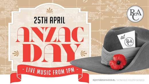 Anzac Day at the Royal Cricketers Arms Hotel